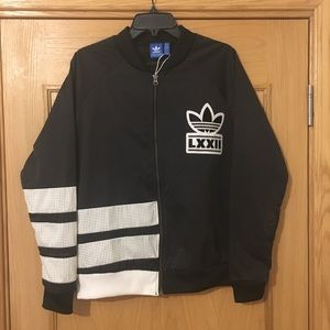 Adidas Berlin 3 Stripes Mesh Track Jacket Size L